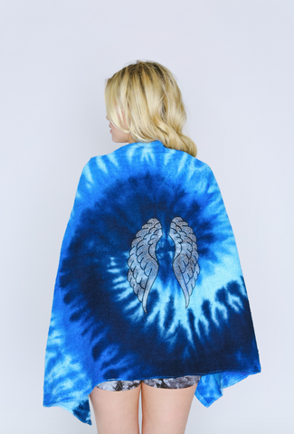 Angel Wings Tie Dye Beach Towel