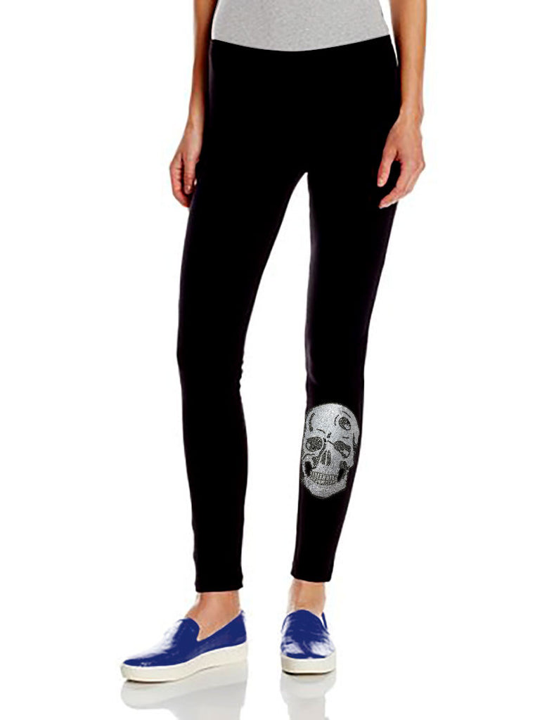 Mini Silver Skull Leggings