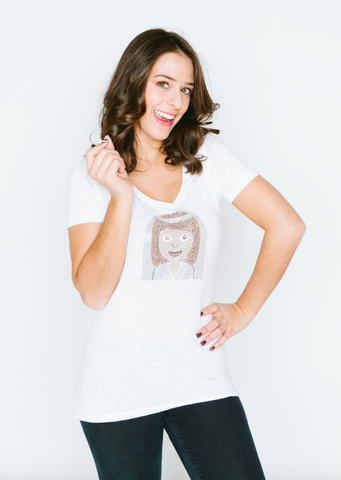 Bride Emoji V-Neck T Shirt