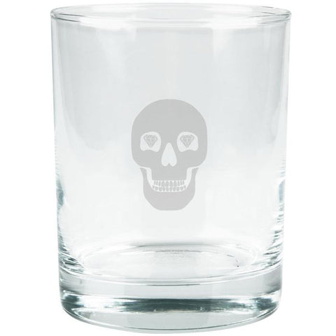 Kings of Cole - Skull with Diamonds Etched Glass Tumbler