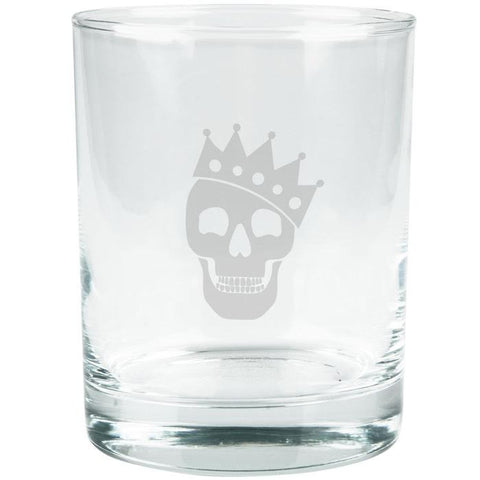 Kings of Cole - Skull with Crown Etched Glass Tumbler