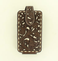 Nocona Leather Cell Case (Brown/Ivory)