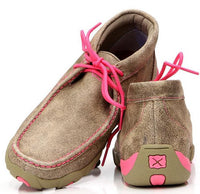 Twisted X-Women's Driving Moccasin – Dusty Tan/Pink-WDM0012