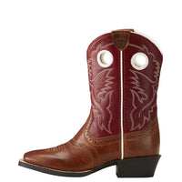 Ariat Youth Roughstock (Tan/Cherry Red)-10019911