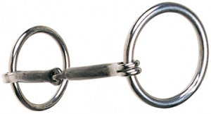 "Reinsman-7/16"" Smooth Sweet Iron Snaffle Heavy Rings Stage A-101"