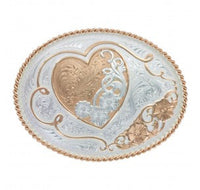 Montana Silversmiths A Heart of Rose Gold Western Belt Buckle (11400RG)
