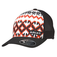 Ariat Men's Black & Red Aztec Ball Cap