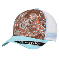 Ariat Women's Brown Paisley Trucker Cap- 1543827