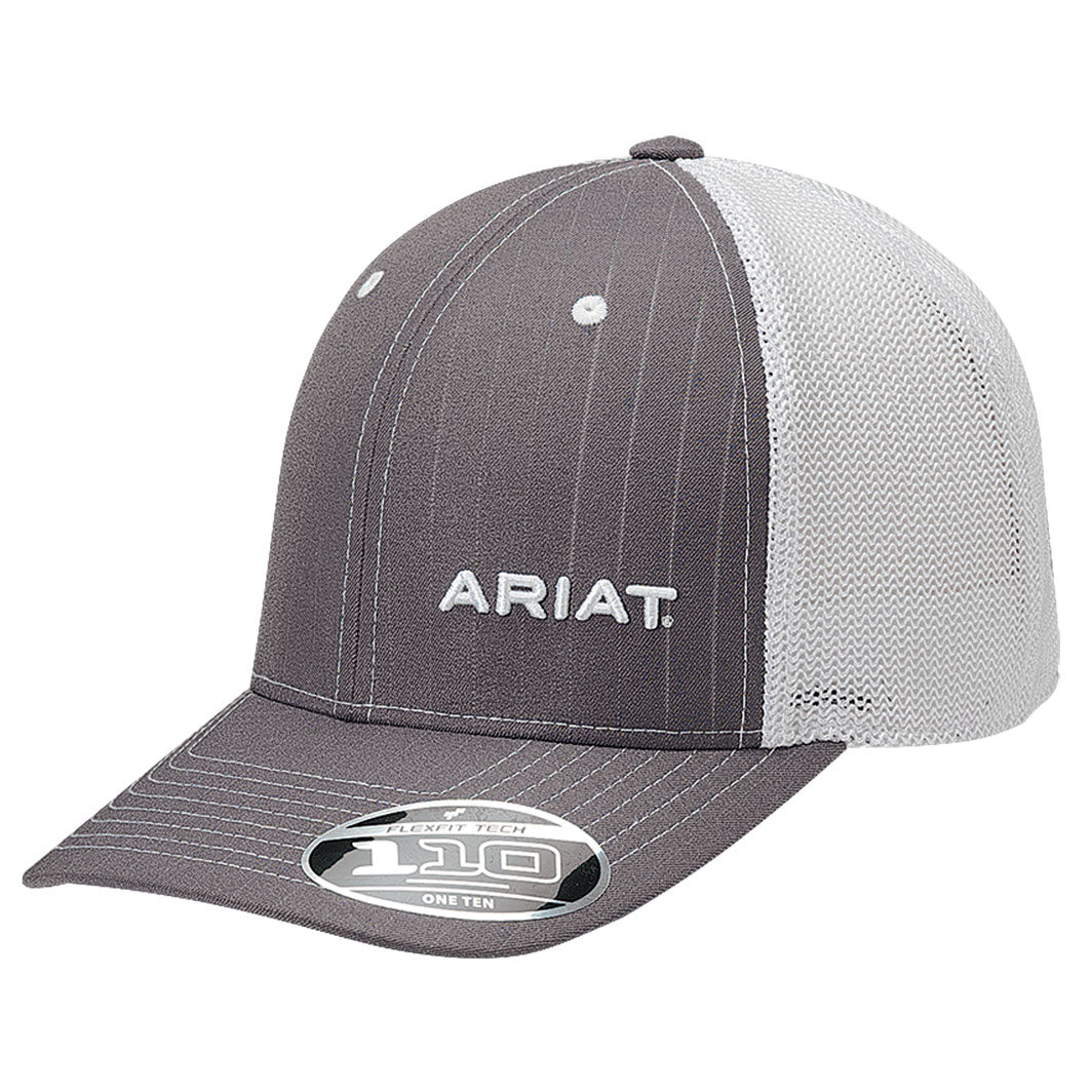 eebf5c00e1bb1 Ariat Men s Grey Pinstripe Pattern Baseball Cap