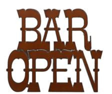 Rustic Ironwerks-Bar Open Sign