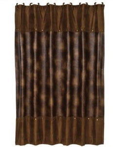 HiEnd Accents Bianca Leather Shower Curtain