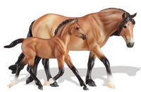 Breyer Classics Collection Bay Dartmoor Pony and Light Bay Foal