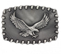Montana Silversmiths Stitched Edge Radiating Golden Eagle Attitude Buckle