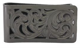 Montana Silversmiths Black Nickel Square Filigree Money Clip