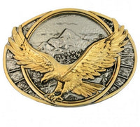 Montana Silversmiths Soaring Eagle Two Tone Attitude Belt Buckle