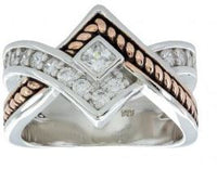 Montana Silversmiths Clasped in Rope and Star Light Ring