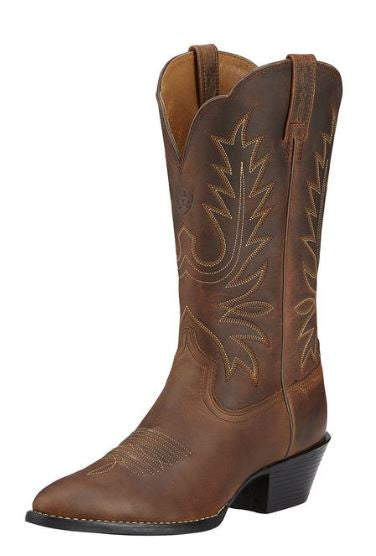 Ariat Women's Heritage Western R Toe Distressed Brown- 10001021