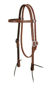Weaver ProTack Chap Lined Harness Leather Browband Headstall, 5/8""
