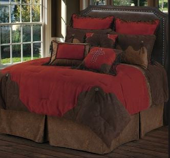 HiEnd Accents Red Rodeo Comforter Set