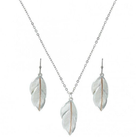 Montana Silversmiths Downy Feather Jewelry Set (JS2878RG)