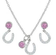 Montana Silversmiths Pink Luck by Star Light Jewelry Set
