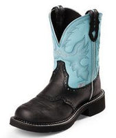 Justin Women's Black Gypsy with Light Blue- L9905