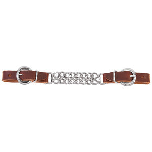 "Weaver-4-1/2"" Double Flat Link Chain Curb Strap"