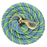 Weaver-10' Striped Cotton Lead Rope with Solid Brass 225 Snap