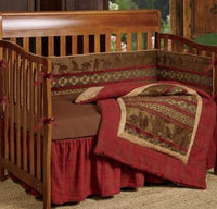 HiEnd Accents-Baby Cascade Lodge Crib Bedding