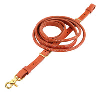 Weaver Leather Harness Leather Round Roper and Contest Rein, 3/4
