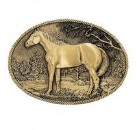 Montana Silversmiths Standing Horse Profile Heritage Attitude Belt Buckle (60795C)