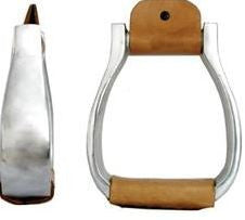 American Heritage Equine Aluminum Visalia Leather Wrapped Stirrups 254-530
