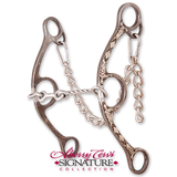 Classic Equine-Sherry Cervi Diamond Long Shank Twisted Wire Dogbone Small SS-BBIT2LSG24SS