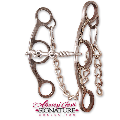 Classic Equine-Sherry Cervi Diamond Short Shank Twisted Wire Dogbone Snaffle-BBIT3SSG22SS