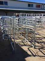 6 Tier Saddle Rack w/Swivel Pad Rack