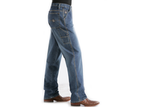 Cinch Mens Loose Fit Blue Label Jeans-Medium Stonewash-MB90434002
