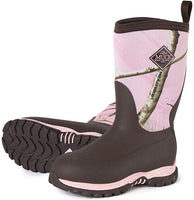 Muck Boot Kids Rugged II Performance Winter Boot-Brown/Pink Realtree