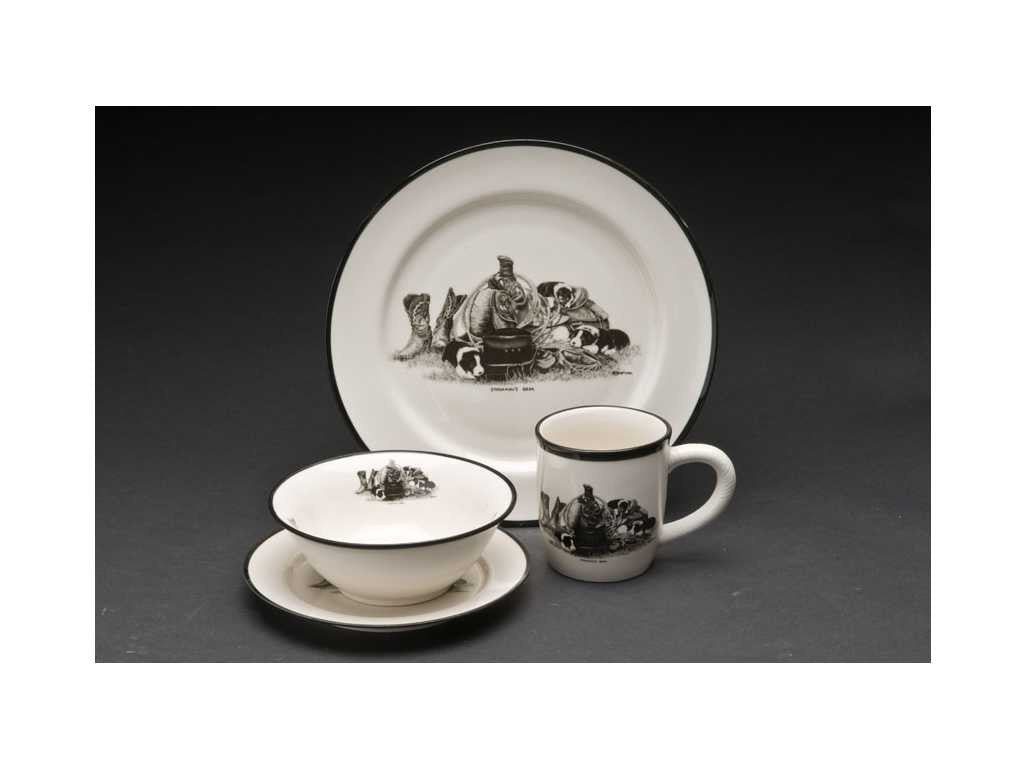 Bernie Brown 16pc-Dinnerware Set  sc 1 st  Irvines Saddles \u0026 Western Wear & Bernie Brown 16pc-Dinnerware Set | Irvines Saddles \u0026 Western Wear