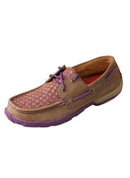 Twisted X Women's Driving Moccasins Bomber/Purple