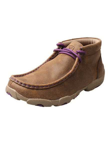 Twisted X Kid's Driving Moccasin – Bomber/Purple-YDM0012