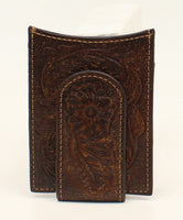 Ariat Floral Embossed Money Clip Wallet