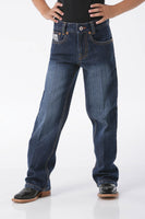Cinch Boys Slim White Label Jeans- Dark Stonewash-MB12881002
