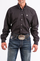 Cinch Mens Solid Black Button-Down Western Shirt-MT10320083