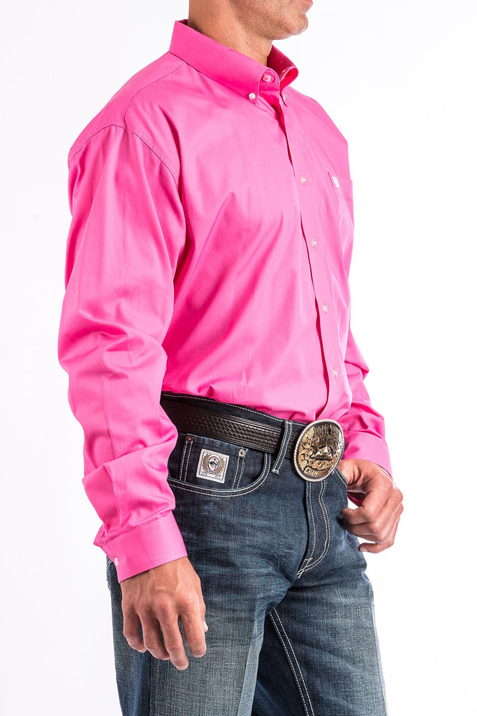 186d9e850ae Cinch Mens Solid Pink Button-Down Western Shirt-MTW1103320 | Irvines ...
