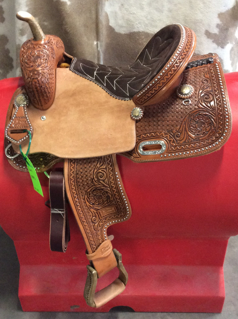 "14 1/2"" Irvine Barrel Saddle IB 174"