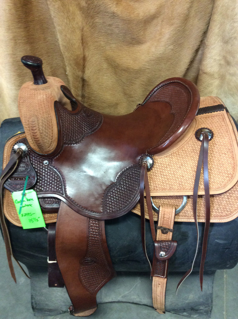 "16"" Irvine Custom Cowhorse Saddle-ICH40"