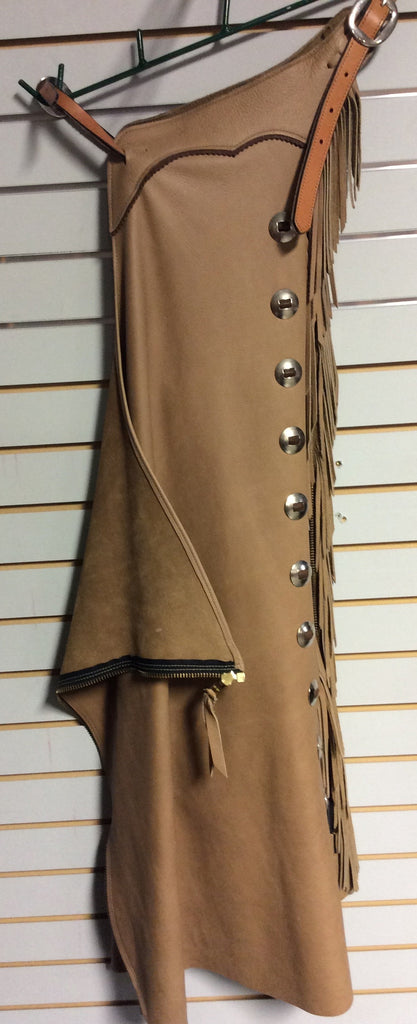 Tan Leather Working Chaps