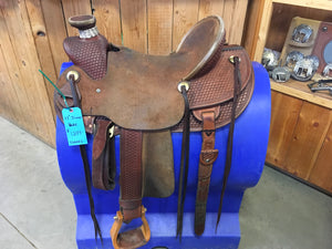 "12"" Irvine Kids Barrel Saddle IB 153"