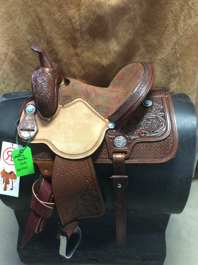 "13 1/2"" Reinsman Molly Powell Barrel Saddle -RB 11"