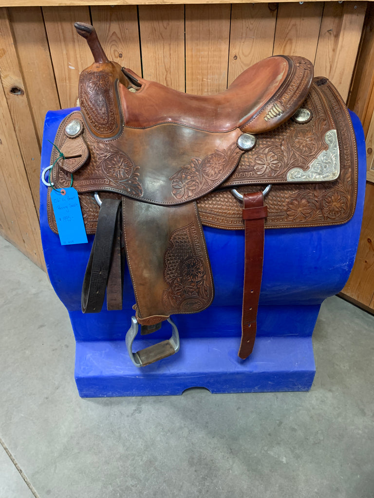 "15.5"" Vic Bennett Reining Saddle-Used"